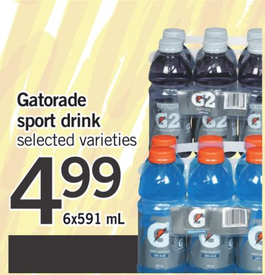 Gatorade Sport Drink - 6x591 mL