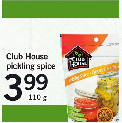 Club House Pickling Spice - 110 g
