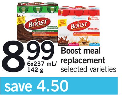 Boost Meal Replacement - 6x237 Ml/ 142 g