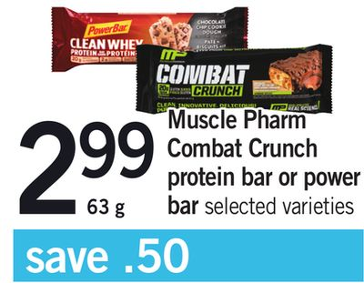 Muscle Pharm Combat Crunch Protein Bar Or Power Bar - 63 g