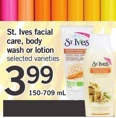 St. Ives Facial Care - Body Wash Or Lotion - 150-709 Ml
