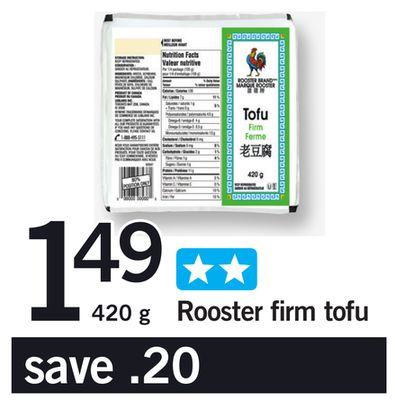 Rooster Firm Tofu - 420 g
