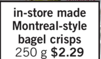 In-store Made Montreal-style Bagel Crisps - 250 g