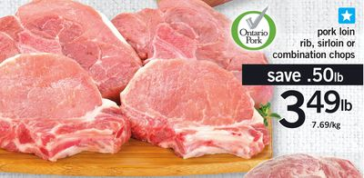 Pork Loin Rib - Sirloin Or Combination Chops