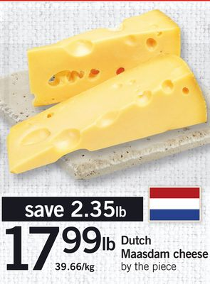 Dutch Maasdam Cheese