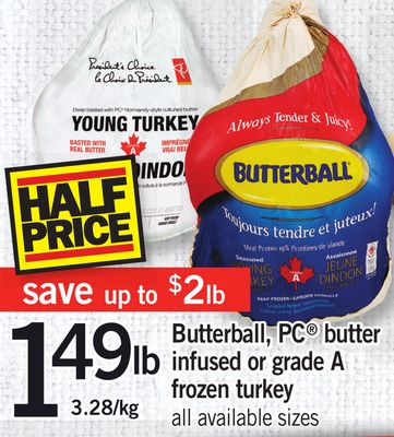 Butterball - PC Butter Infused Or Grade A Frozen Turkey