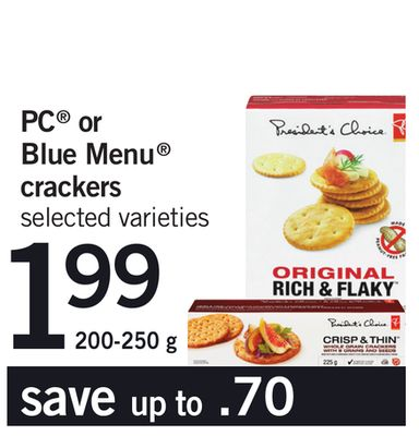 PC Or Blue Menu Crackers - 200-250 g