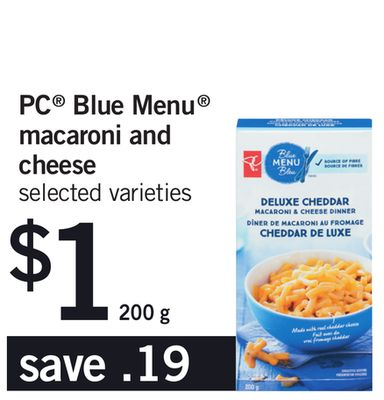 PC Blue Menu Macaroni And Cheese - 200 g