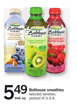 Bolthouse Smoothies - 946 mL