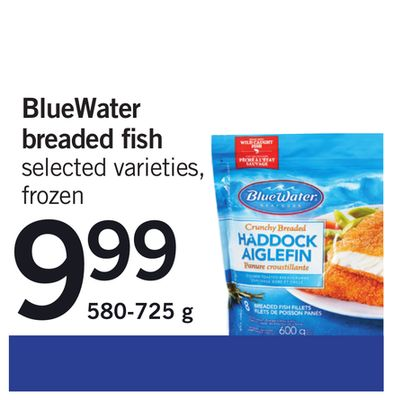 Bluewater Breaded Fish - 580-725 g