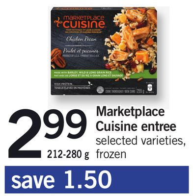 Marketplace Cuisine Entree - 212-280 g