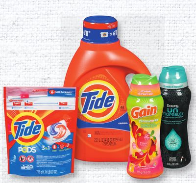 Tide Liquid - 2.04-2.72 L - PODS - 23/31's - Downy Or Gain Laundry Beads - 555 G