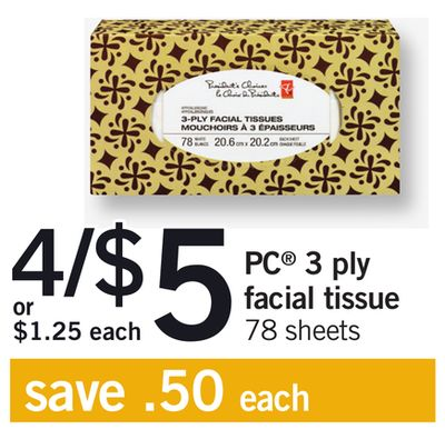 PC 3 Ply Facial Tissue - 78 Sheets