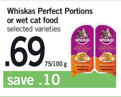 Whiskas Perfect Portions Or Wet Cat Food - 75/100 g