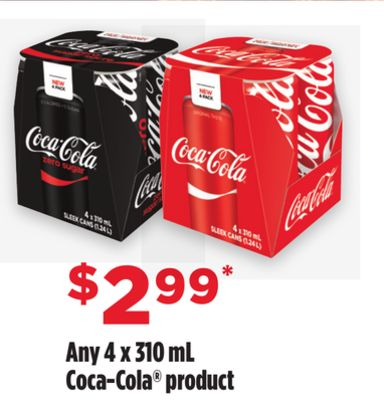 Any Coca-cola Product - 4 X 310 mL