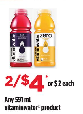 Any Vitaminwater Product - 591 mL