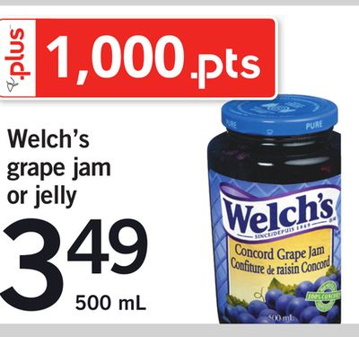 Welch's Grape Jam Or Jelly - 500 mL