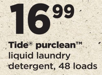 Tide Purclean Liquid Laundry Detergent - 48 Loads