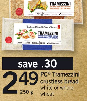 PC Tramezzini Crustless Bread - 250 g
