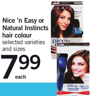 Nice 'N Easy Or Natural Instincts Hair Colour