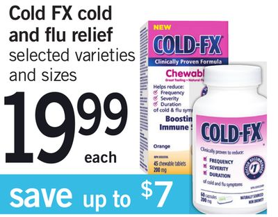 Cold Fx Cold And Flu Relief