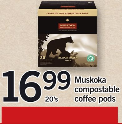 Muskoka Compostable Coffee PODS - 20's