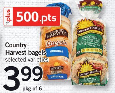 Country Harvest Bagels - Pkg of 6