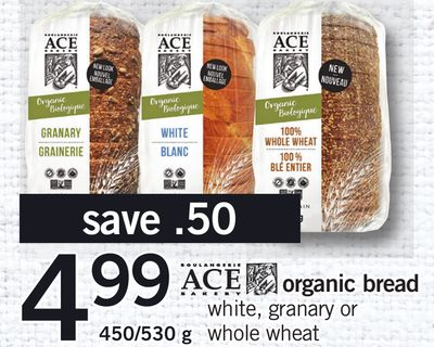 Ace Organic Bread - 450/530 g