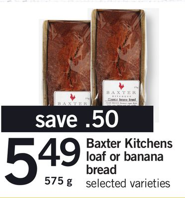 Baxter Kitchens Loaf Or Banana Bread - 575 g