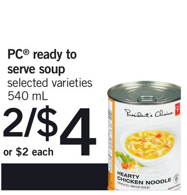 PC Ready To Serve Soup - 540 mL
