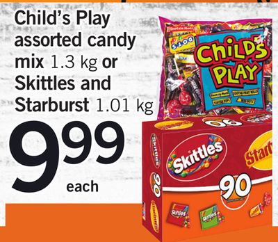 Child's Play Assorted Candy Mix 1.3 Kg Or Skittles And Starburst 1.01 Kg