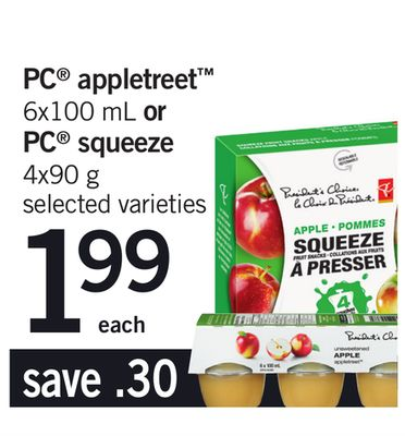 PC Appletreet 6x100 mL Or PC Squeeze 4x90 g
