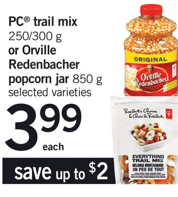 PC Trail Mix 250/300 G Or Orville Redenbacher Popcorn Jar 850 G