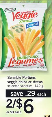 Sensible Portions Veggie Chips Or Straws - 142 g