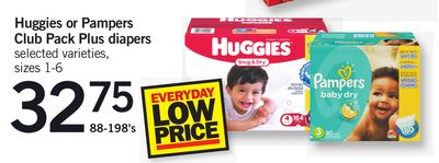 Huggies Or Pampers Club Pack Plus Diapers - Sizes 1-6