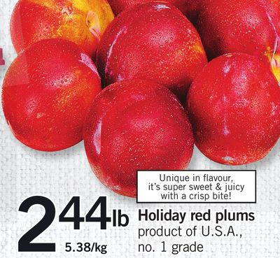 Holiday Red Plums