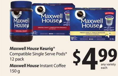 Maxwell House Keurig Compatible Single Serve PODS - 12 Pack Maxwell House Instant Coffee - 150 G