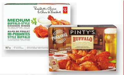 Pinty's Chicken Wings - Tenders Or Chunks - 810-950 g Or PC Chicken Wings - 907 g