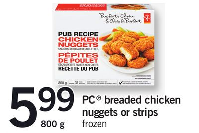 PC Breaded Chicken Nuggets Or Strips - 800 g