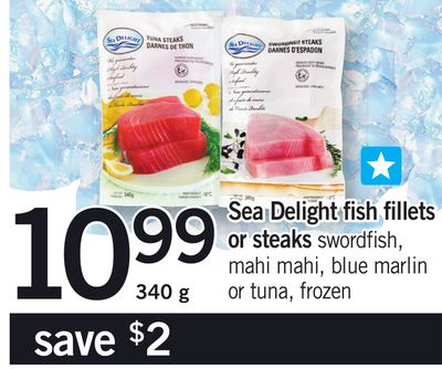 Sea Delight Fish Fillets Or Steaks - 340 g
