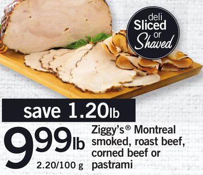 Ziggy's Montreal Smoked - Roast Beef - Corned Beef Or Pastrami