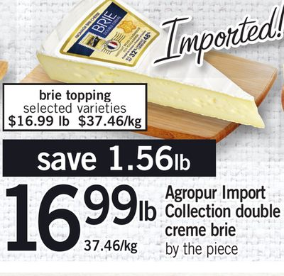 Agropur Import Collection Double Creme Brie