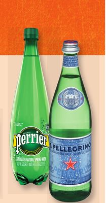 San Pellegrino or Perrier Mineral or Sparkling Water - 750 Ml/1 L