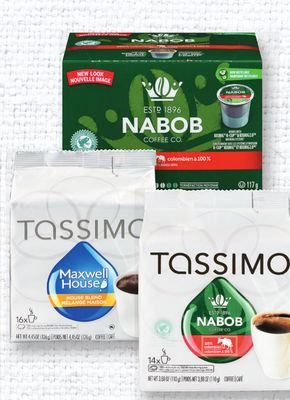 Nabob Or Maxwell House K-cups Or T-discs - 8-16's