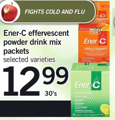 Ener-c Effervescent Powder Drink Mix Packets - 30's