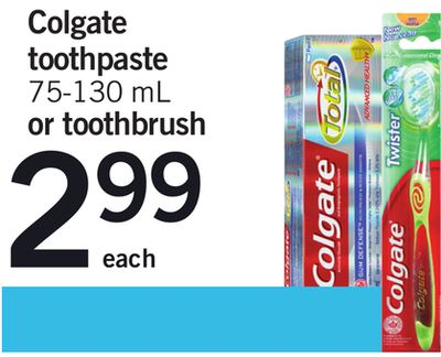 Colgate Toothpaste - 75-130 mL Or Toothbrush