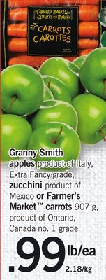 Granny Smith Apples - Zucchini Or Market Carrots 907 G