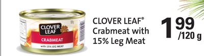 Clover Leaf Crabmeat With 15% Leg Meat