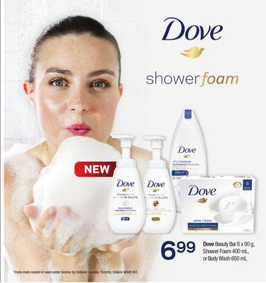 Dove Beauty Bar - 8 X 90 G - Shower Foam 400 Ml - Or Body Wash - 650 Ml