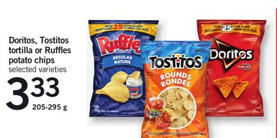 Doritos - Tostitos Tortilla Or Ruffles Potato Chips - 205-295 g